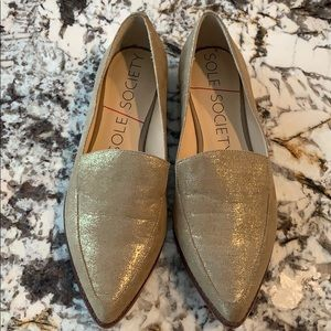 EUC Sole Society Champagne Beau Loafers 6.5M